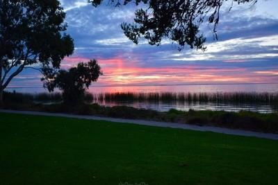 Sundown Over Lake Albert. Meningie South Australia