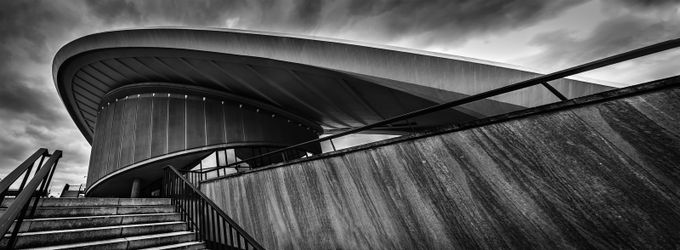 Haus der Kulturen der Welt by EvilFrees - Monochrome Creative Compositions Photo Contest