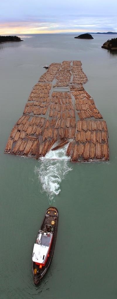 Wood Barge Washington