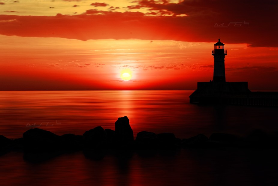 Sunrise @ Canal park, Duluth MN USA. Almost drove 3 hours to get to this place and finally had on...