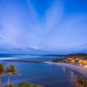 Stunning blue hour sunset shot over Turtle Bay resort in Hawaii; such a perfect view to wake up to each morning.