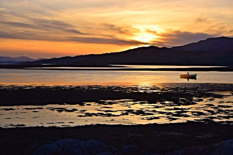 Boat on Lochalsh Sunset