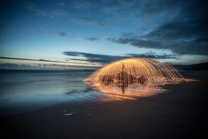 Creating fireworks on the beach by sarelvanstaden - Image Of The Month Photo Contest Vol 22