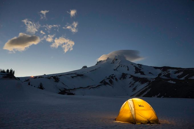 Mt Hood Dusk by kevincowley - Image Of The Month Photo Contest Vol 22