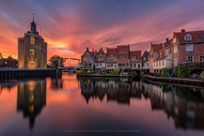 Amazing sunset in Enkhuizen by costasganasosphotography - Architecture And Reflections Photo Contest