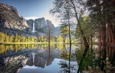 Yosemite Falls pond reflection