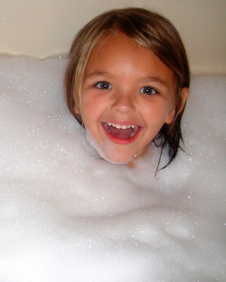 Abby in Bubbles