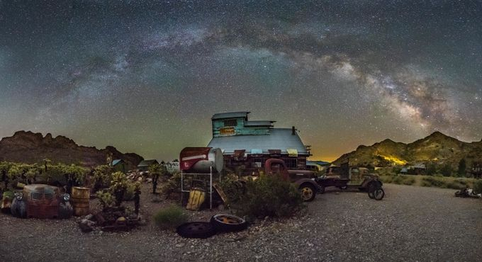 Nelson ghost Town Pano by FlorendoStudioArts - Warehouses Photo Contest