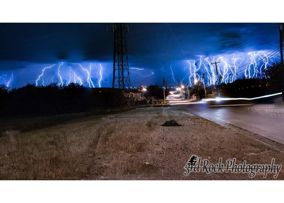 Lightning storm in Texas