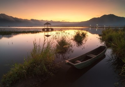 Evening at Lake Batur