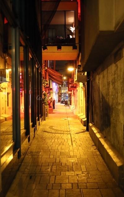 Tobin Street at Night