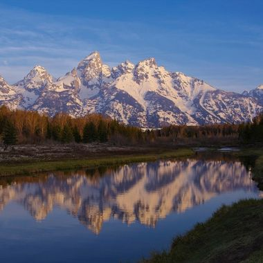 Grand Tetons from Schwabacher Landing, Wyoming