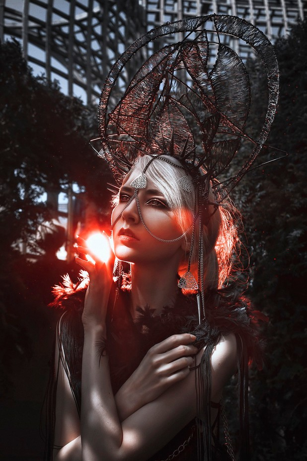 """The Sorceress"" by gracealmera - It Is Red Photo Contest"