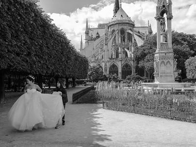 Wedding pictures  at Notre Dame, Paris.
