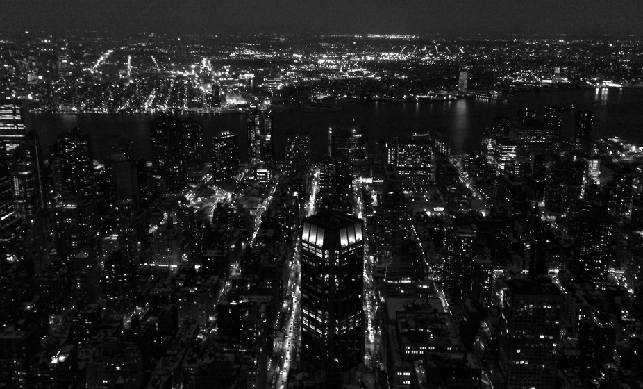 New York from the Empire State.