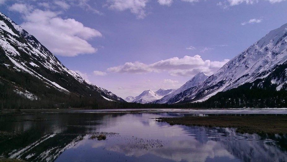 Traveling on Sterling Hwy through Alaska and saw a beautiful shot, one of many