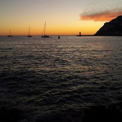 Sunset & boats