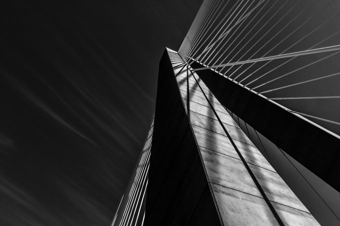 Study in Black and White.. Bridge Series by Photogirl118 - Tall Structures Photo Contest
