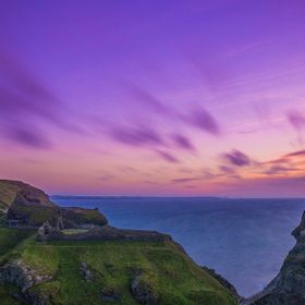One seriously beautiful sunset over Tintagel Castle and Bay.