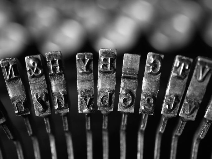My Antique Typewriter by BeeMacDee - Letters And Words Photo Contest