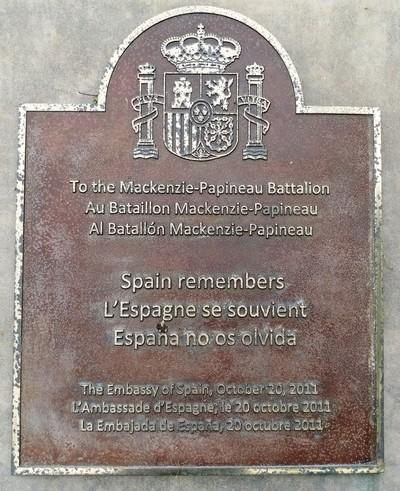 Mackenzie-Papineau Battalion Memorial, Ottawa, Ontario
