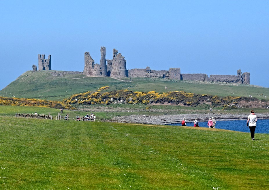 Dunstanburgh castle (the lip out)
