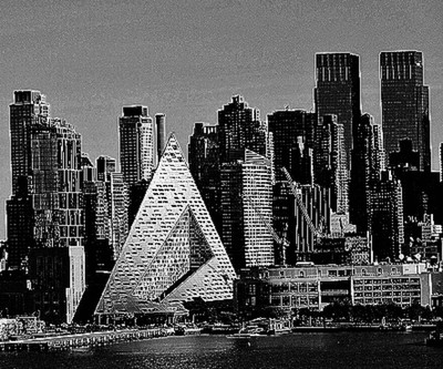 View of Manhattan (black and white)