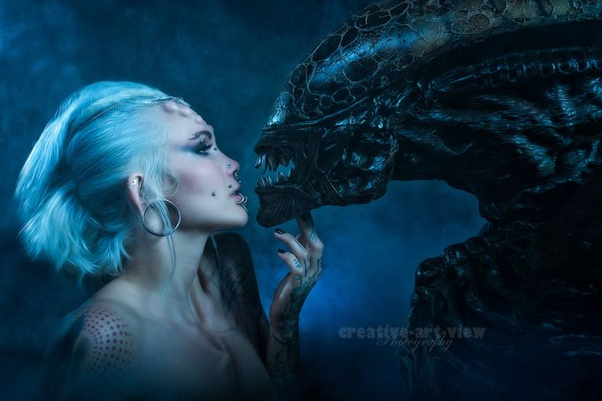 Alien love by CreativeArtView - Post Editing Magic Photo Contest