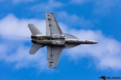 F18 Superhornet at the Rhode Island airshow.