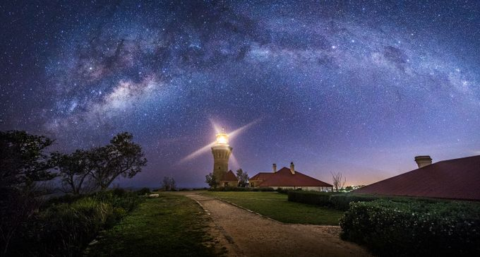 Barrenjoey Lighthouse by TonyLaw - The Milky Way Photo Contest