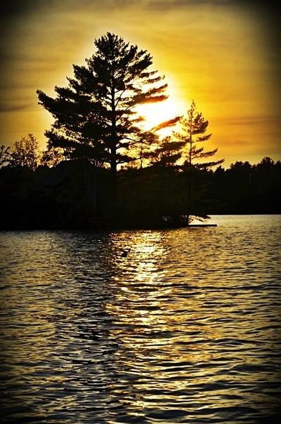 Sunset on Watchic Lake