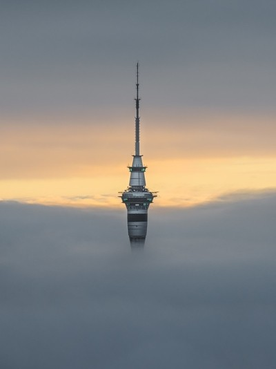 Sky Tower in the sea of fog
