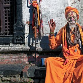 Holy Man at Pashupatinath Temple