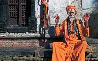 Holy Man at Pashupatinath Temple