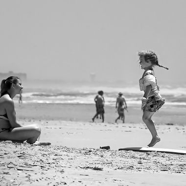Little Girl Jumping BNW