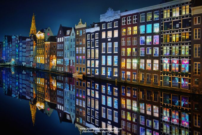 Amsterdam at night 2. by JuanPablo-deMiguel - Canals Photo Contest
