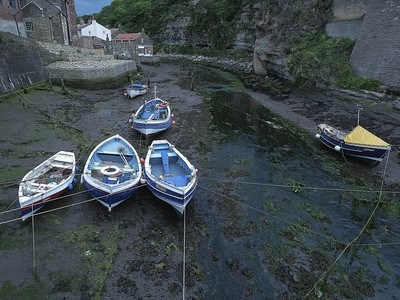 Boats in the Fishing Village of Staithes