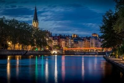 Blue Hour on the St-Georges bridge at Lyon