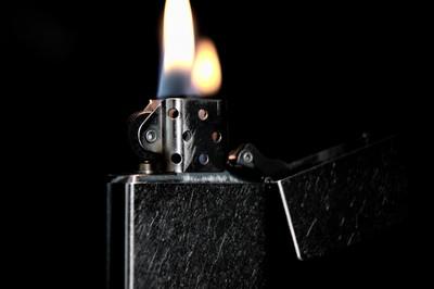 Zippo on Fire