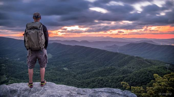 Dawn on McAfee's Knob by VirginiaDan - Strong Foregrounds Photo Contest