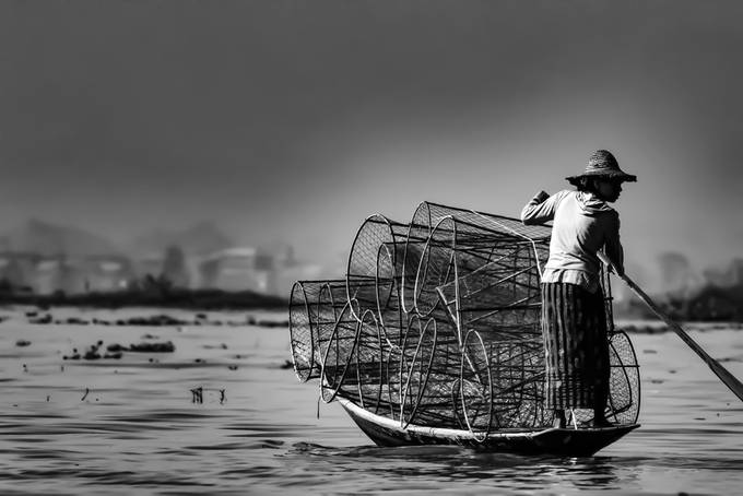 Fishermen - Inle Lake - Burma by AlexisRangaux - People And Water Photo Contest 2017