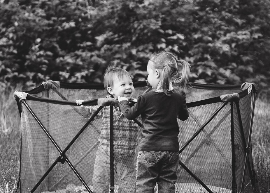 This is just a shot of my youngest children when they thought I wasn't looking ❤