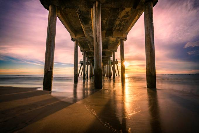 Sunset Pier by Ecampbell7 - The View Under The Pier Photo Contest