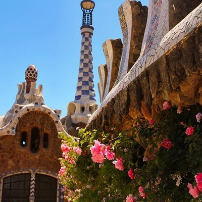 Park Güell in Barcelona is a playground full of sweets and gingerbread hous