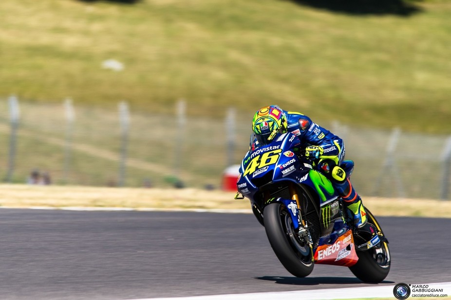Valentino Rossi portrayed the first day of free practice at the Gran Premio D'Italia 2017 at the Mugello Racecourse