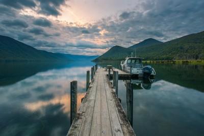 Sunrise Over Lake Rotoroa