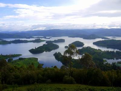A View of Lake Bunyonyi, Kabale, Uganda