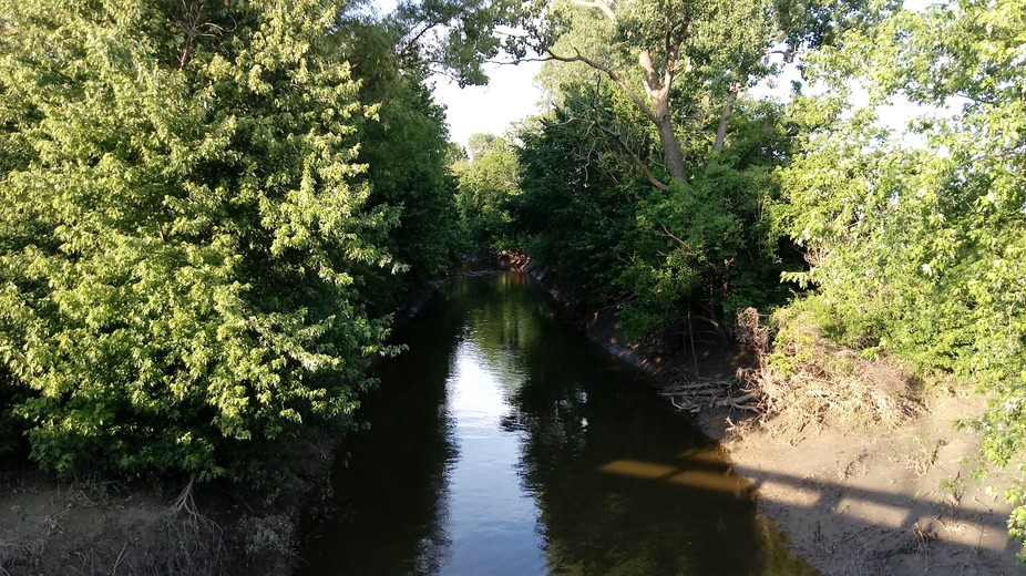 This is a little creek that we like to fish at.