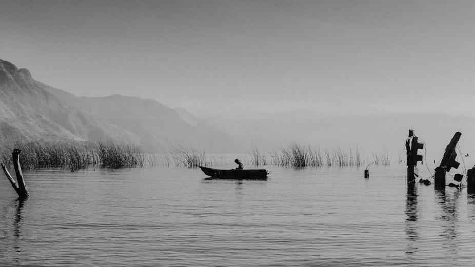 early fisherman on la laguna