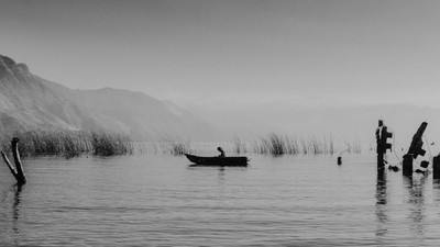 early fisherman on la laguna